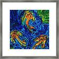 Impressionist Koi Fish By Sharon Cummings Framed Print