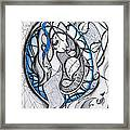 In Memory Of Blue Woman Framed Print