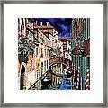 Inchiostro Su Venezia Framed Print