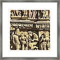 India. Khajraho. Jain Temple Framed Print