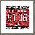Indiana 1949 License Platee Framed Print