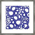Indigo Bubbles- Contemporary Absrtract Watercolor Framed Print by Linda Woods