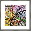 Ink On Watercolor Framed Print