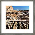 Inside The Colosseum Framed Print