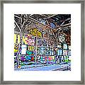 Inside The Old Train Roundhouse At Bayshore Near San Francisco And The Cow Palace V  Framed Print