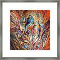 Inside The Vortex Of The Premonitions Framed Print
