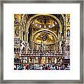 Interior St Marks Basilica Venice Framed Print
