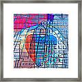Interstate 10- Exit 255- Miracle Mile Overpass- Rectangle Remix Framed Print