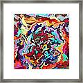 Intertwined Rainbow Framed Print