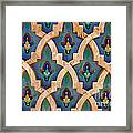 Intricate Zelji at the Hassan II Mosque Sour Jdid Casablanca Morocco Framed Print