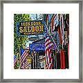 Iron Door Saloon - The Oldest Saloon In California Framed Print