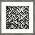 Islamic Art Stone Texture Framed Print