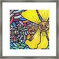 Island Girl And Sun Flower Framed Print