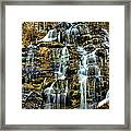 Issaqueena Falls With Rainbow Framed Print