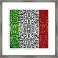 Italian Flag - Italy Stone Rock'd Art By Sharon Cummings Italia Framed Print