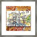 Italy Sketches Venice Canale Framed Print