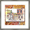Italy Sketches Venice Piazza Framed Print