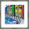 Italy - Venice - Colorful Burano - The Right Side  Framed Print