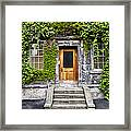 Ivy Covered Doorway - Trinity College Dublin Ireland Framed Print