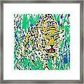 Jaguar - Enamels Painting Framed Print