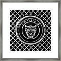 Jaguar Grille Emblem -0317bw Framed Print