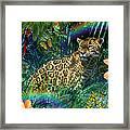 Jaguar Meadow  Variant 1 Framed Print