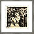 Janis Stamp In A Sepia Vibe Framed Print