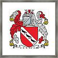 Janns Coat Of Arms Irish Framed Print
