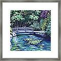 Japanese Garden Bridge San Francisco California Framed Print