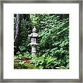 Japanese Garden Lantern Framed Print