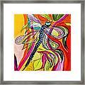 Jenny's Dragonfly In Acrylic Framed Print