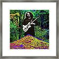 Jerry At The Cosmic Pyramid In The Woods  Framed Print