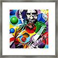 Jerry Garcia In Bubbles Framed Print
