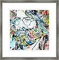 Jerry Garcia Watercolor Portrait.2 Framed Print