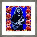 Jerry In Blue With Rose Frame Framed Print