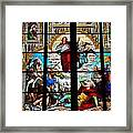 Jesus Angels Stained Glass Painting Inside Cologne Cathedral Germany Framed Print