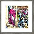 Jesus Cleansing The Temple Framed Print