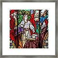 Jesus Teaches In The Temple Framed Print