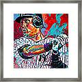 Jeter At Bat Framed Print