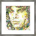 Jim Morrison Watercolor Portrait.2 Framed Print