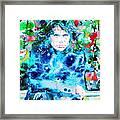 Jim Morrison Watercolor Portrait.3 Framed Print