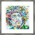 Jimi Hendrix  - Watercolor Portrait.3 Framed Print