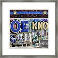 Joe Knows Nashville Framed Print