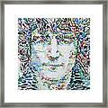 John Lennon Portrait.1 Framed Print