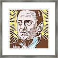 Johnny Cash Pop Art Framed Print