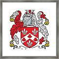 Johnson Coat Of Arms Irish Framed Print