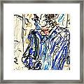 Joker - Bozo Framed Print by Rachel Scott