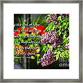 Joy And Peace Framed Print