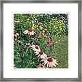 July Garden Framed Print