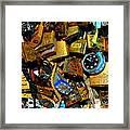 Jumble Of Locks Framed Print